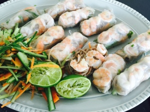Laura of London Vietnamese Prawn Rolls Laura Nana