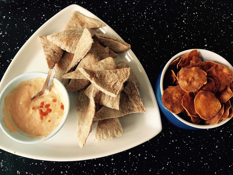 laura of london  pitta bread, crisps and dips laura nana