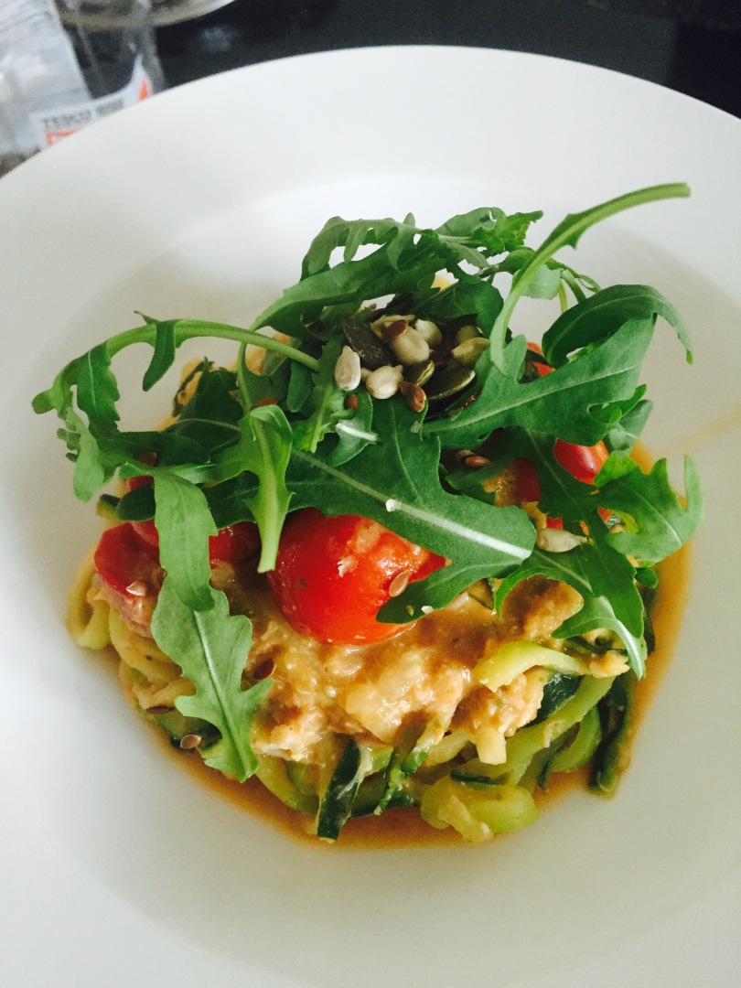 Crab Courgetti with Seeds and Rocket Laura of London