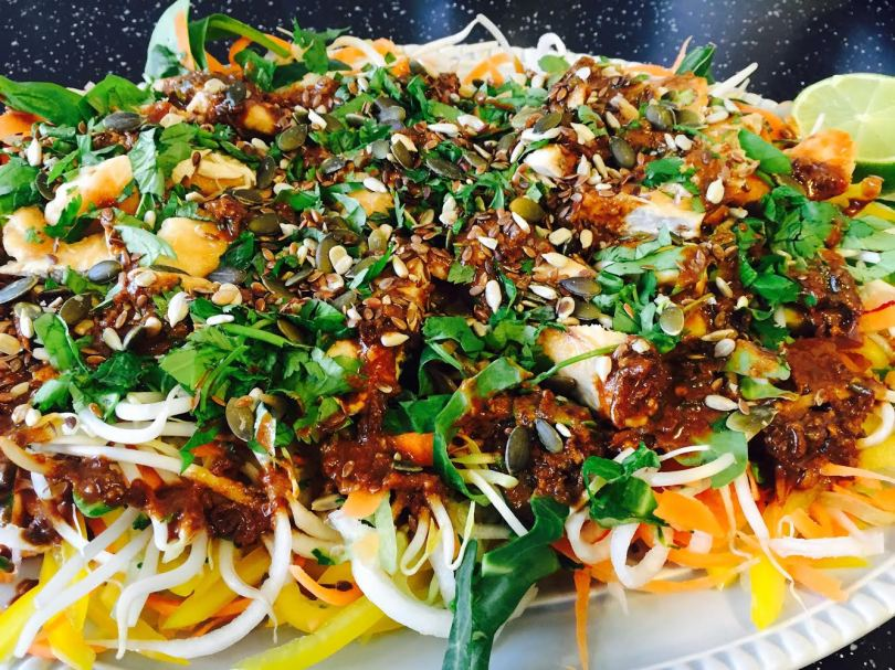Oriental Chicken Salad with Nutty Dressing Laura of London Laura Nana