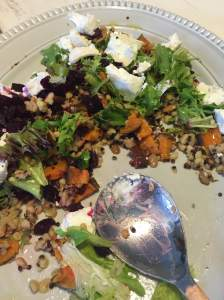 Goats Cheese and Grain Salad